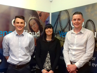 Vennersys new appointments - Luke Fletcher, Business Development Executive, Joseph Paul, Client Account Manager and Sharon Horton, Telesales Executive